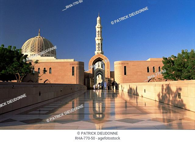 The Grand Mosque Sultan Qaboos, built in 2001, Muscat, Oman, Middle East