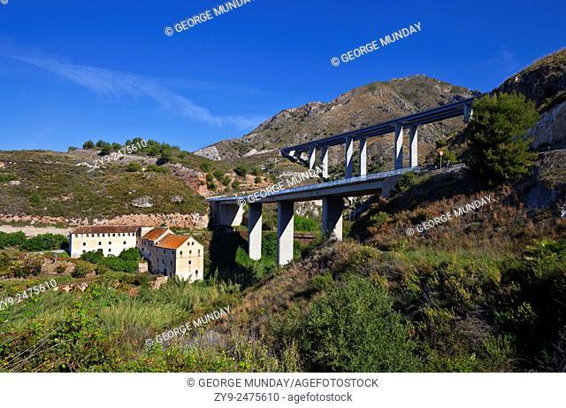 Molino de Papel, the 18th Century unused Paper Mill,. Powered by the waters of the Rio de la Miel (Honey River),. Costa Tropical, Granada Province, Andalucia