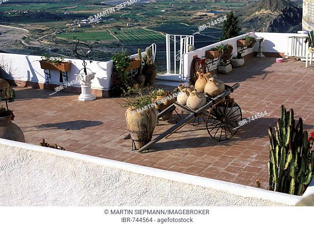 Roof terrace, Mojácar (Almería), Andalusia, Spain