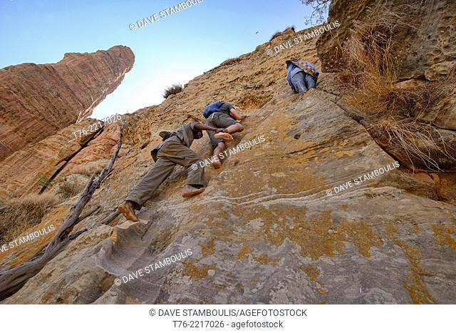 rock climbing to the Abuna Yemata Guh rock church and Gheralta Range in Tigray, Ethiopia