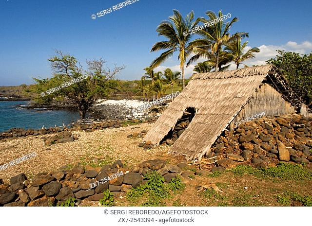Lapakahi State Historical Park, where Hawaiian fishermen lived for centuries until the place was left without water. Big Island. Hawaii. USA