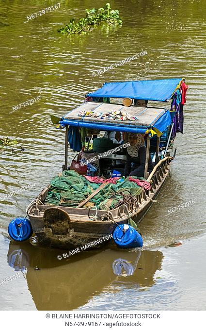 Boating along the backwaters, Cai Lay, Mekong Delta, Vietnam