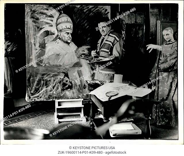 1964 - Famous Italian Artist Works On New Portrait Of Pope John: The famous Italian artist - Paolo Chiglia who was produced portraits of some of the world's...