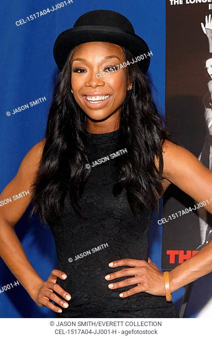Brandy Norwood at a public appearance for Brandy Norwood Makes Broadway Debut in CHICAGO, Ripley-Grier Studios, New York, NY April 17, 2015