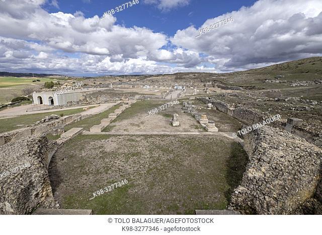 aula basilical, parque arqueológico de Segóbriga, Saelices, Cuenca, Castilla-La Mancha, Spain