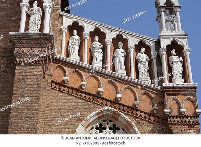 Church of Madonna de L'Orto. Detail. Cannaregio Sestiere. Venice, Veneto, Italy, Europe