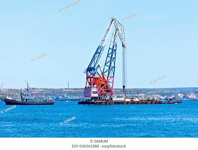 the large floating port crane