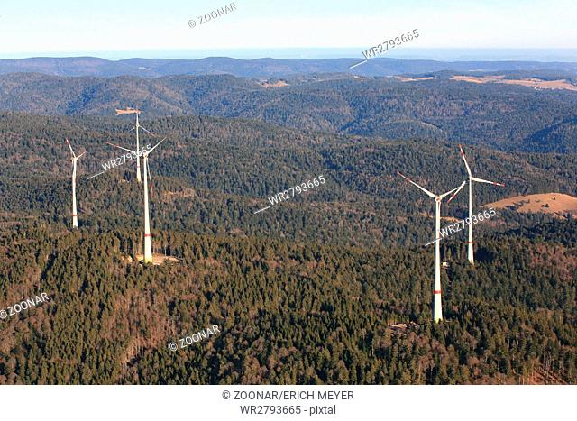 Wind farm Rohrenkopf in Gersbach in the southern Black Forest