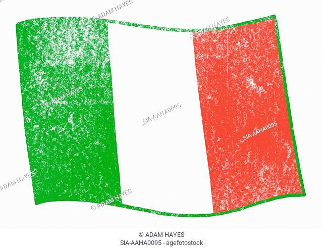 View of italian flag