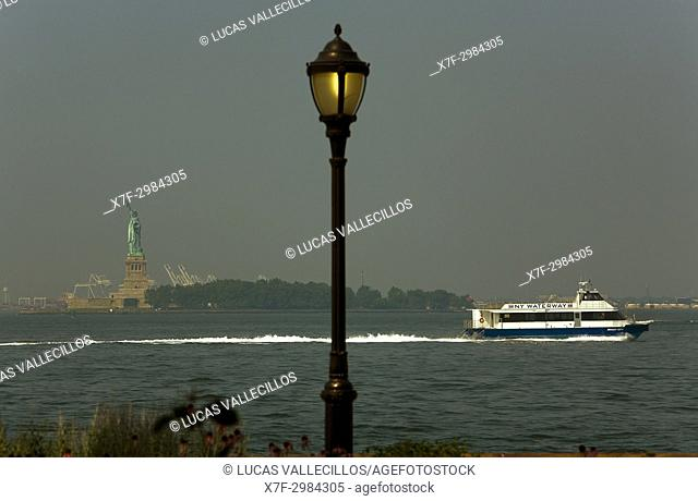 Statue of Liberty,from Financial District, New York City, USA