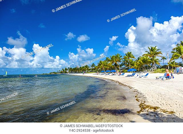 Smathers Beach ion the Atlantic Ocean in Key West Florida