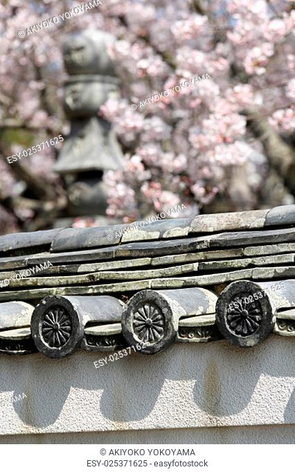 old Japanese roof cray tiles