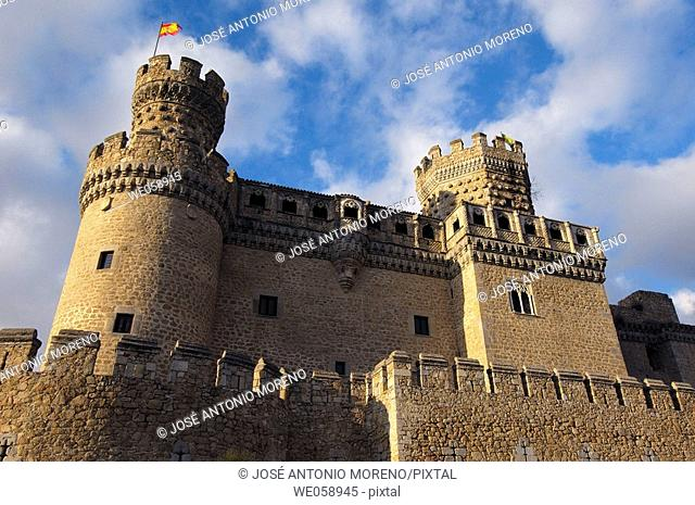 Castle of the Mendoza, Manzanares el Real. Madrid, Spain