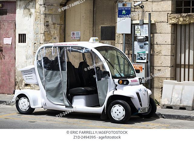 Electric mini cab. Valletta Malta