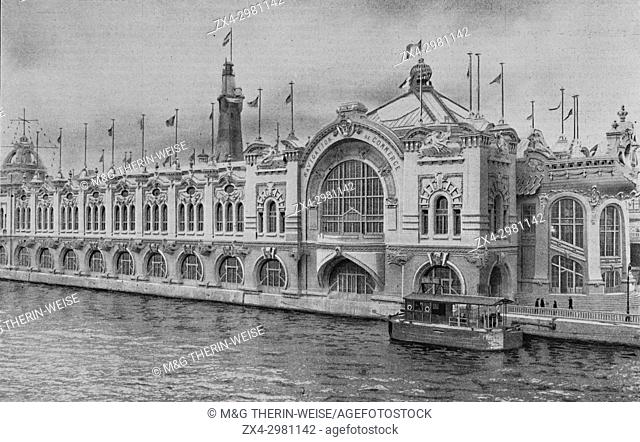 Merchant Navy Palace, Universal Exhibition 1900 in Paris, Picture from the French weekly newspaper l'Illustration, 7th July 1900