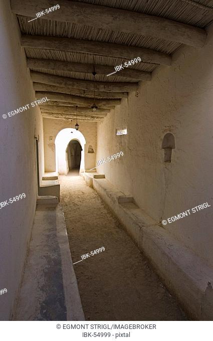 Cavelike walkway in the historic center of Ghadames, Ghadamis, Libya