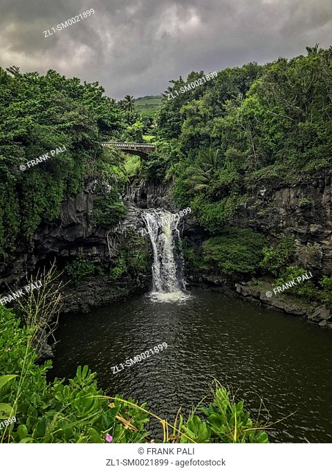 Waterfalls, Oheo Gulch, Kipahulu, Haleakala National Park, Maui, Hawaii, USA