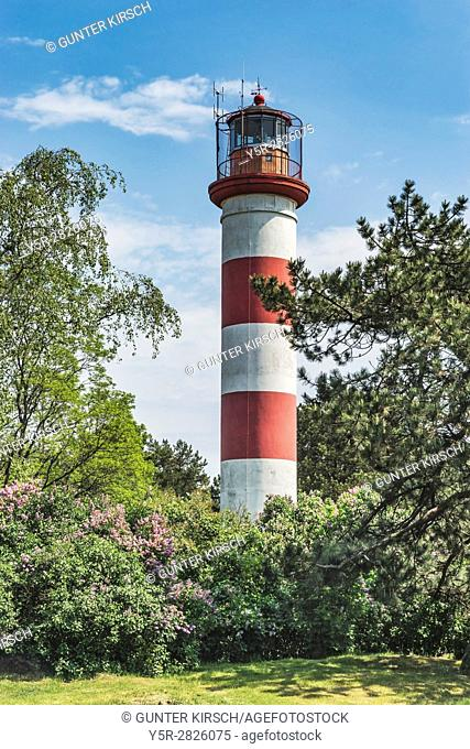 The lighthouse of Nida is located on the Urbas Hill. The tower is 29. 30 meters high. Nida (Nidden) is a village on the Curonian Spit to the Baltic Sea