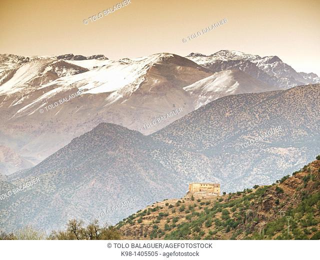 Tin Mal Mosque, Tinmel, XII Century, Ifouriren, Road Tizi-n-Test, Atlas Mountains, Morocco, Africa