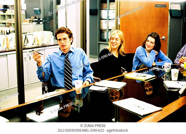 RELEASED: Aug 10, 2004 - Original Film Title: Shattered Glass, Pictured: HAYDEN CHRISTENSEN, CHLOE SEVIGNY, MELANIE LYNSKEY (Credit Image: © Lions Gate...