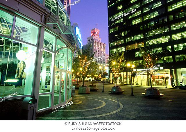 Shopping district. Vancouver. Canada