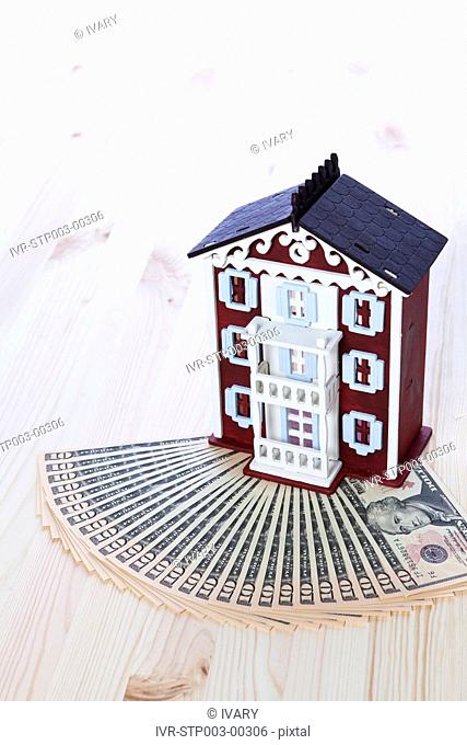 House Model With Currency