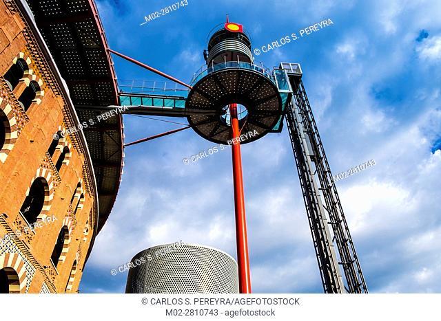 Las Arenas shopping mall center in Plaza Espana square in Barcelona Catalonia Spain