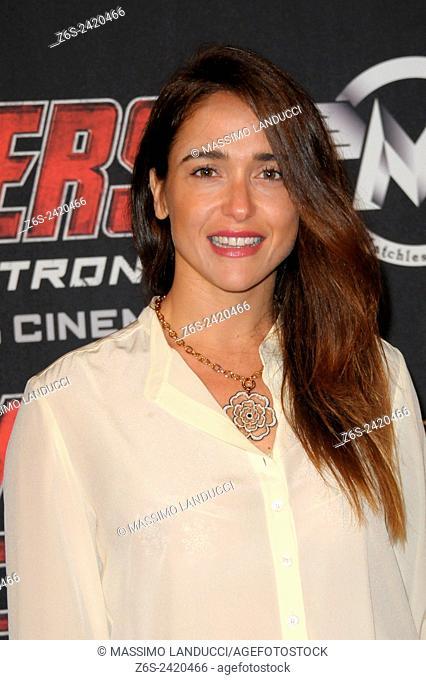 Eleonora Sergio ; Sergio; actress ; celebrities; 2015;rome; italy;event; red carpet ; avengers, age of ultron