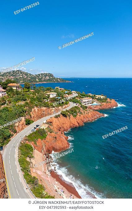 Rocky coastline, Le Trayas, Var, Provence-Alpes-Cote d`Azur, France, Europe