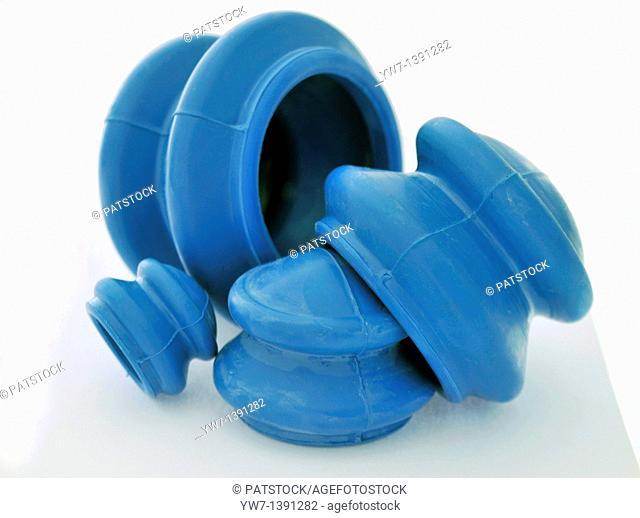 Rubber cupping jars for alternative medicine