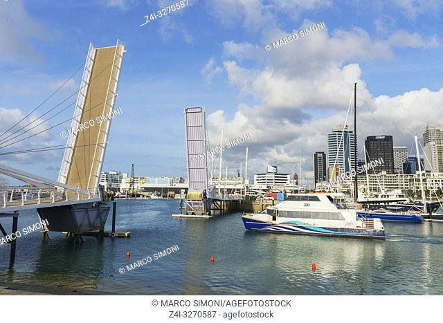 Wynyard Quarter bridge, Auckland, North Island, New Zealand,