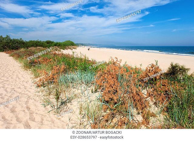 Wladyslawowo Beach at Baltic Sea in Poland