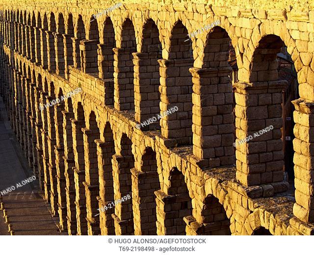 Aqueduct of Segovia. Segovia. Spain