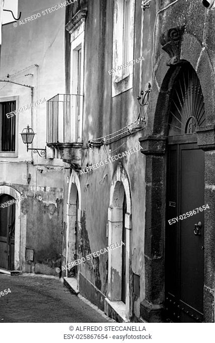 The old streets of acireale