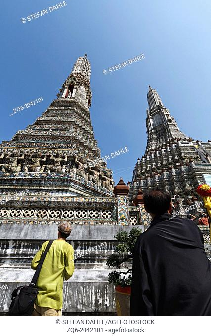 The Stupa of the Buddhist Temple Wat Arun in Bangkok, Thailand
