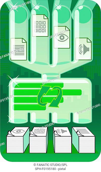 Illustration of file processing system