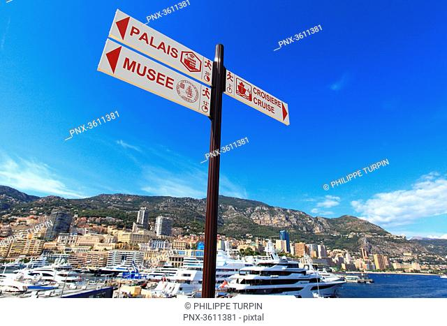 France, French riviera. Monte Carlo. The harbor