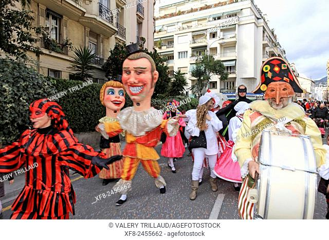 The carnival of the childs, Nice, Alpes-Maritimes, Côte d'Azur, French Riviera, France