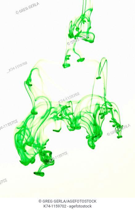 Green Color Fluid