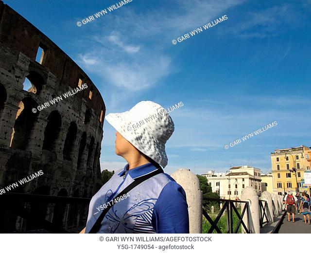 the colosseum coliseum amphitheatre wall facade, rome