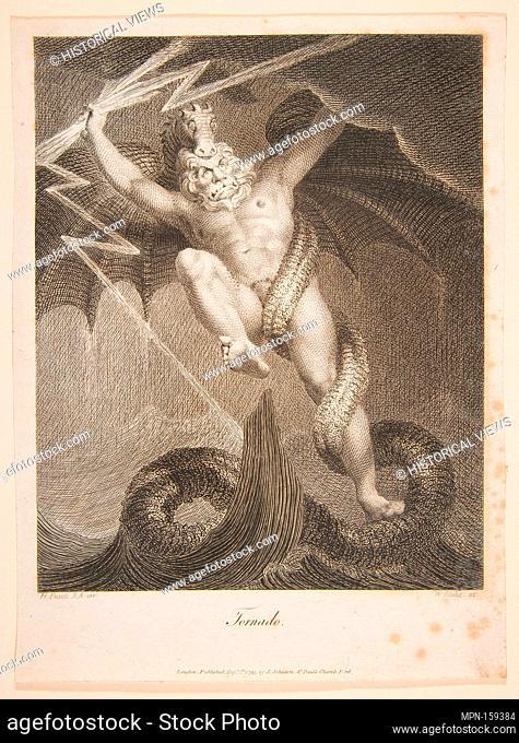 Tornado-Zeus Battling Typhon (Erasmus Darwin, The Botanic Garden). Artist: William Blake (British, London 1757-1827 London); Artist: After Henry Fuseli (Swiss