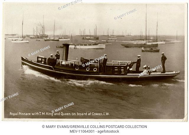 Royal Steam Pinnace at Cowes, Isle of Wight with King George V and Queen Mary on board