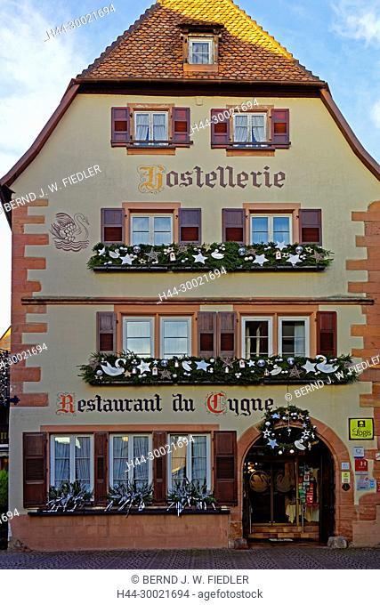 Hostellerie, Restaurant du Cygne, Schwan, Weihnachtsschuck