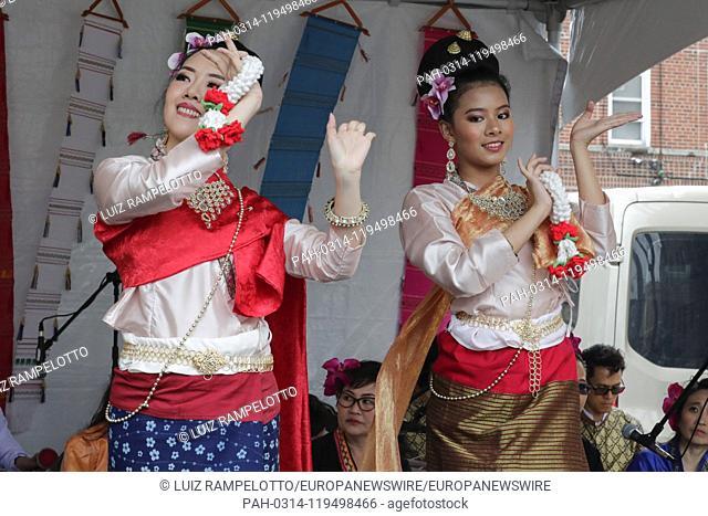 Woodside Avenue, New York, USA, April 20, 2019 - Hundreds of members of the Thai community of New York celebrated Songkran