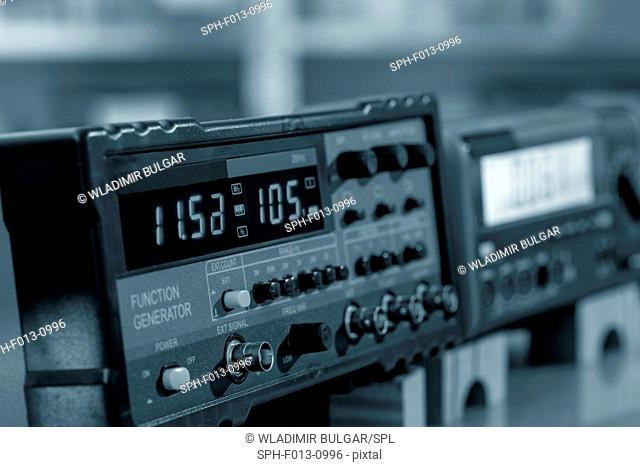 Digital display on an electronic machine