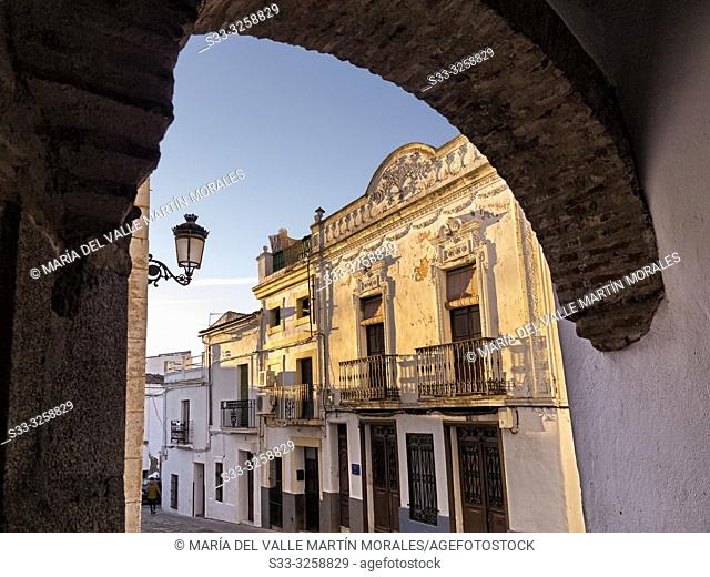 Jerez street from Smal square in Zafra. Badajoz. Spain. Europe