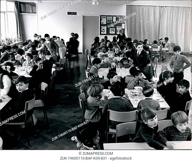 1980 - Wolverhampton, England - School Integration in UK: Students at lunch time break. If colored and white children are brought up together