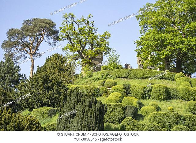 Mound at Warwick Castle, Warwickshire, England