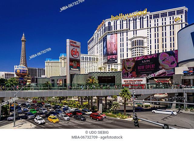 The USA, Nevada, Clark County, Las Vegas, Las Vegas Boulevard, The Strip, planet Hollywood
