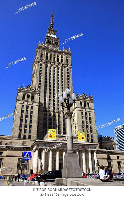 Poland, Warsaw, Palace of Culture and Science